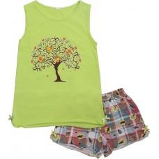 Пижама для девочек Valeri-tex 0015-55-042-014 Салатовый