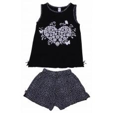 Пижама для девочек Valeri-tex 0015-55-129-001-1 Черный