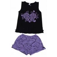 Пижама для девочек Valeri-tex 0015-55-129-001 Черный