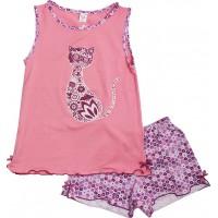 Пижама для девочек Valeri-tex 0015-55-129-006 Розовый