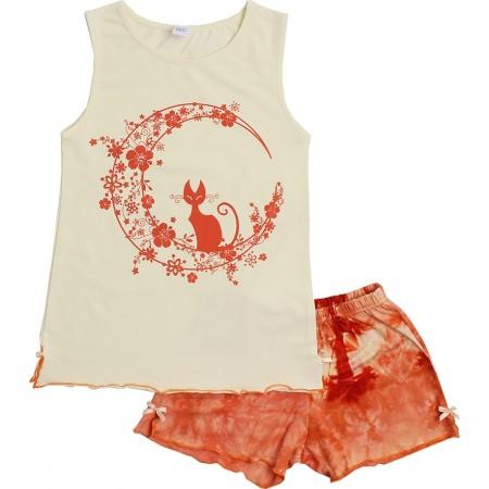 Пижама для девочек Valeri-tex 0015-55-129-024-1 Молочный