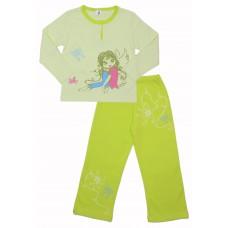Пижама для девочек Valeri-tex 0485-55-293-1 Салатовый