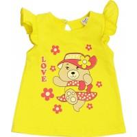 Футболка для девочек Valeri-tex 1215-55-029-010 Желтый