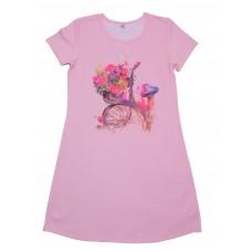 Ночнушка для девочек Valeri-tex 1247-55-024-027-06-2 Розовый