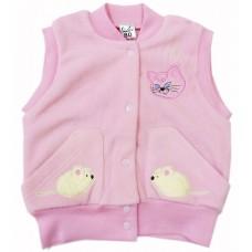 Жилет для девочек Valeri-tex 1360-20-365-2 Розовый