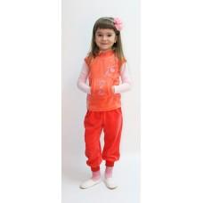 Жилет для девочек Valeri-tex 1365-20-365 Оранжевый