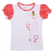 Футболка для девочек Valeri-tex 1438-75-242 Белый