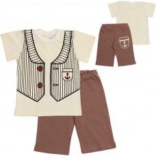 Комплект для мальчиков Valeri-tex 1472-55-126-024 Молочный