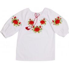 Вышиванка для девочек Valeri-tex 1494-20-311-002 Белый