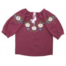 Блузка для девочек Valeri-tex 1494-20-311-016-1 Бордовый