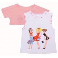 Комплект для девочек Valeri-tex 1513-75-242 Розовый