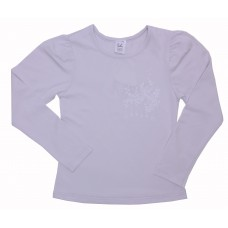 Блузка для девочек Valeri-tex 1541-55-042-003 Серый