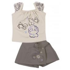 Комплект для девочек Valeri-tex 1595-20-813-3 Молочный