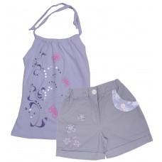 Комплект для девочек Valeri-tex 1596-75-813 Серый