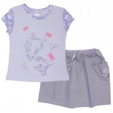 Комплект для девочек Valeri-tex 1597-75-813-2 Серый