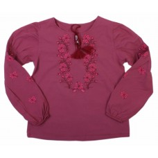Блузка для девочек Valeri-tex 1605-20-311-016 Бордовый