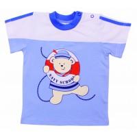 Футболка детская Valeri-tex 1676-75-126-2 Голубой