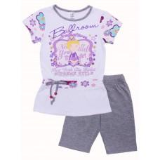 Комплект для девочек Valeri-tex 1690-55-042 Серый меланж