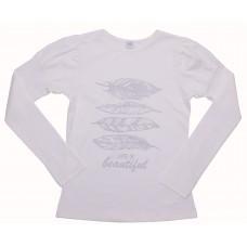 Блузка для девочек Valeri-tex 1714-55-048-024 Молочный