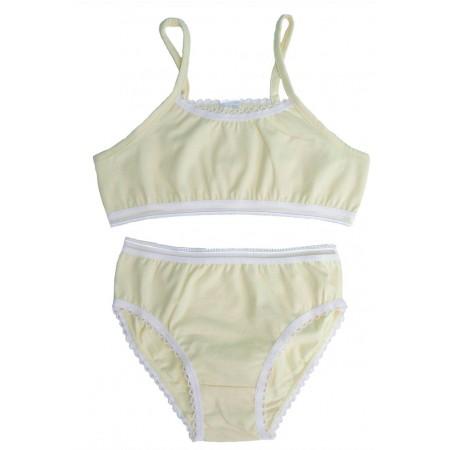 Комплект для девочек Valeri-tex 1744-99-042-024 Молочный