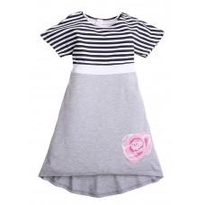 Платье Valeri-tex 1815-55-042-003 Серый