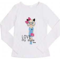 Блузка для девочек Valeri-tex 1833-55-042-002 Белый