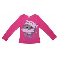 Блузка для девочек Valeri-tex 1833-55-042-017 Малиновый
