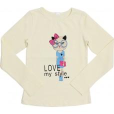 Блузка для девочек Valeri-tex 1833-55-042-024-1 Молочный