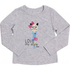 Блузка для девочек Valeri-tex 1833-55-042-003-1 Серый
