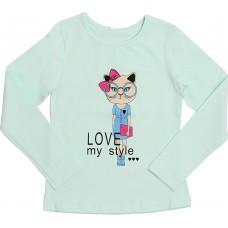 Блузка для девочек Valeri-tex 1833-55-042-038-1 Ментол