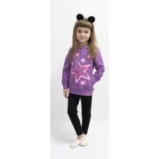 Толстовка для девочек Valeri-tex 1840-55-057-005 Фиолетовый