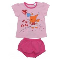 Комплект для девочек Valeri-tex 1845-55-126-006 Розовый