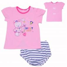 Комплект для девочек Valeri-tex 1845-55-232-006-1 Розовый