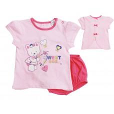 Комплект для девочек Valeri-tex 1845-55-232-006 Розовый