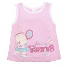 Майка для девочек Valeri-tex 1852-55-025-006 Розовый