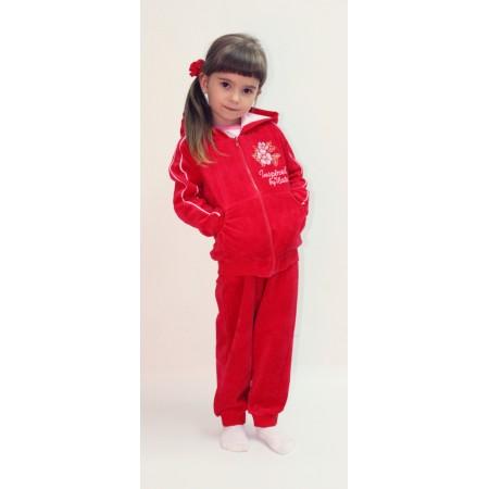 Комплект для девочек Valeri-tex 1894-20-365-012 Красный