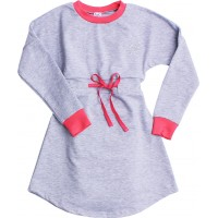 Платье Valeri-tex 1920-20-355-030 Серый меланж