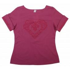 Блузка для девочек Valeri-tex 1986-20-311-016 Бордовый