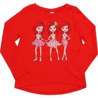 Джемпер для девочек Valeri-tex 2024-55-126-012 Красный