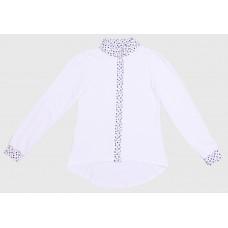 Блузка для девочек Valeri-tex 2034-99-041-002-2 Белый