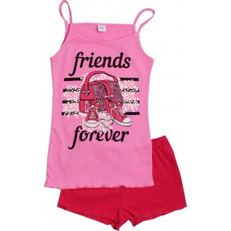 Комплект для девочек Valeri-tex 2061-55-017-006-1 Розовый
