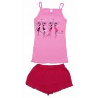 Комплект для девочек Valeri-tex 2061-55-017-006 Розовый