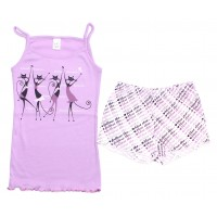 Комплект для девочек Valeri-tex 2061-55-017-015 Сиреневый