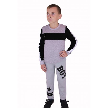 Штаны для мальчиков Valeri-tex 2121-55-090-003-1 Серый
