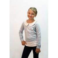 Туника для девочек Valeri-tex 2156-55-090-028-003 Серый
