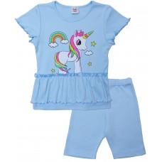 Комплект для девочек Valeri-tex 2175-55-090-008 Голубой